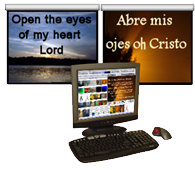 Presentation Manager - dual display projection for optimum worship experience